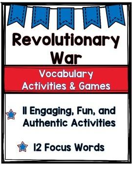 Revolutionary War Vocabulary Activities and Games