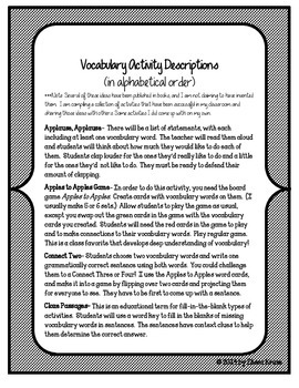 American Revolution Vocabulary Activities and Games