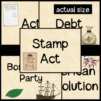 American Revolution Vocabulary Cards and SCOOT game