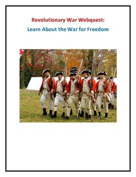 Revolutionary War Webquest (With Answer Key!)
