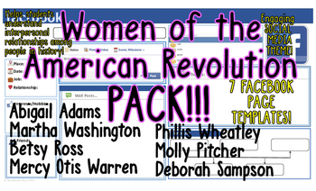 Revolutionary War Women Facebooks