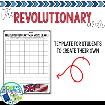 American Revolution Word Search Activity