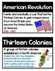 Revolutionary War Word Wall- 34 Vocab Pack