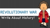 Revolutionary War Writing Prompts and Stationary
