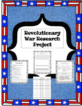 Revolutionary War Writing Unit