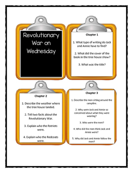 Magic Tree House REVOLUTIONARY WAR ON WEDNESDAY - Discussion Cards