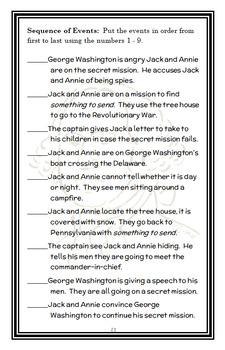 Revolutionary War on Wednesday: Magic Tree House #22 (Osborne) Novel Study