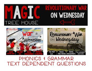 Revolutionary War on Wednesday NO PREP and Text Dependent Questions BUNDLE