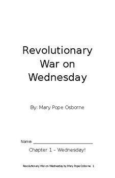 Revolutionary War on Wednesday Student Booklet