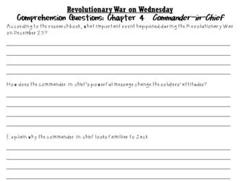 Revolutionary War on Wednesday by Mary Pope Osborne:  A Literature Study!