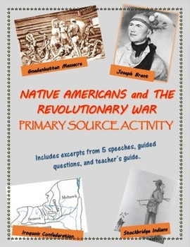 Native Americans and the Revolutionary War primary source activity