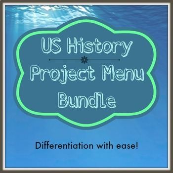 Revolutionary War/Civil War Project Menu Bundle