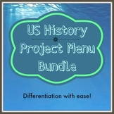 Revolutionary War/Civil War Project Menu Bundle