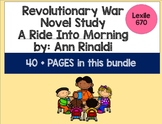 Revolutionary War Novel Study Bundle for A Ride Into Morni