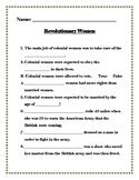 Revolutionary Women Worksheet