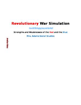 Revolutionary War Simulation