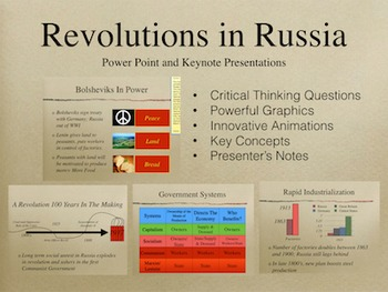 Revolutions In Russia PowerPoint Keynote Presentations