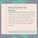 Revolutions Map and Timeline
