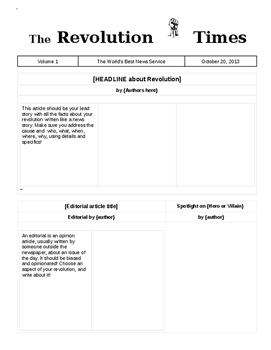 Revolutions Newspaper