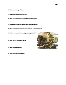 Revolutions Test Review WHII.6
