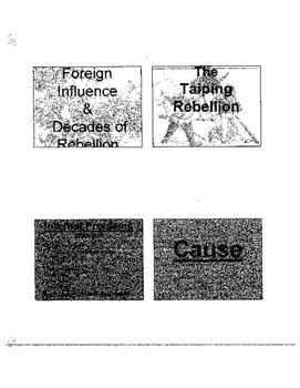 Revolutions in China: Taiping, Sino-Japanese War, Reform, Boxer Reb.