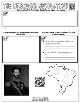 Revolutions in the Americas with QR Codes