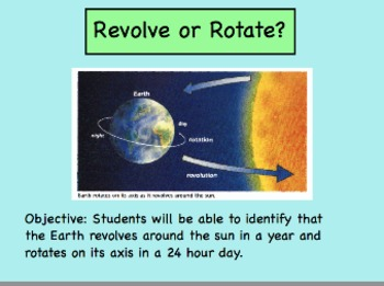Revolve or Rotate?  Review Game to Understand Terms Involving Earth