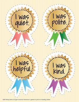 Free Reward Badges for Behavior - 4 Badges - 300 DPI PDF in Vector Format