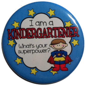 Reward Buttons - I'm a kindergartener. What's your superpower? BOY 10 pc.  2.25""