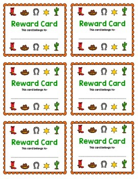 Reward Card {Cowboy}