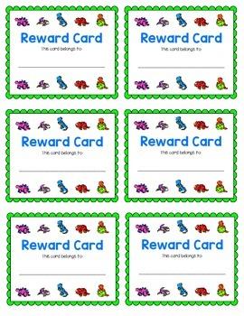 Reward Card {Dinosaurs}