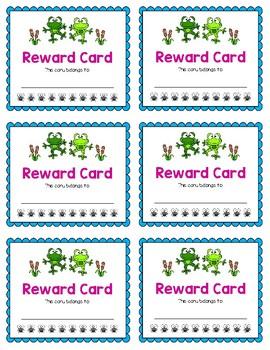 Reward Card {Frog}