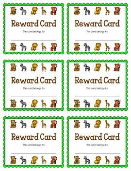 Reward Card {Jungle Animals}