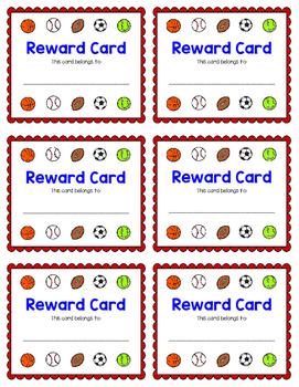 Reward Card {Sports}