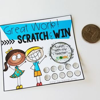 Reward Cards: Scatch & Win