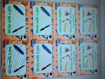 Reward Cards Sports Theme