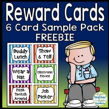 Reward Cards - 6 FREE Reward Coupons