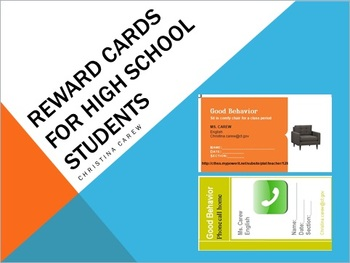 Reward Cards for High School Students