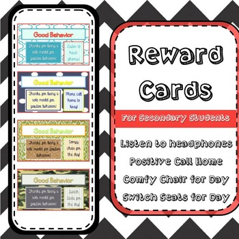 Reward Cards for High School Students 2