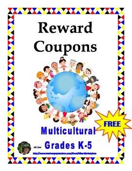 Reward Cards for K-5: Multicultural
