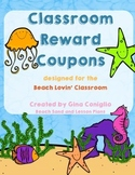 Reward Coupons for the Beach Lovin' Classroom