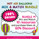 Reward Cards with Hole Punch Points in Hot Air Balloons Theme - 100% Editble