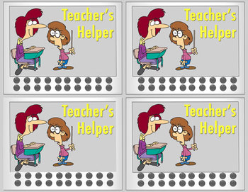 Reward Cards with Punch Cards for Classroom Management