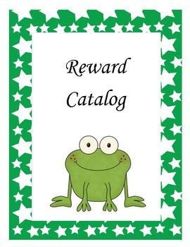 Frog Themed Reward Catalog