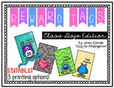Reward/Celebration Tags - Class Dojo Edition