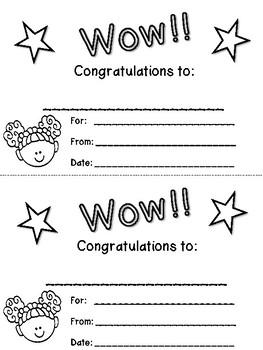 Reward Certificate