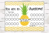 Reward Chart, Complement Chart, Pineapple Decor, You are so Awesome chart