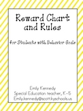 Reward Chart Packet for Students with Behavior Goals
