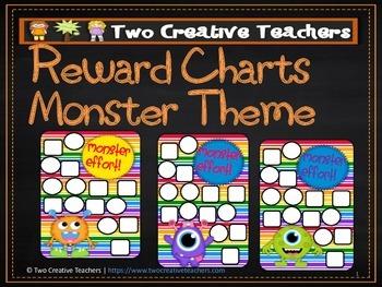 Reward Chart Sticker Chart Monster Theme