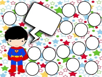 Reward Chart Sticker Chart Superhero Theme